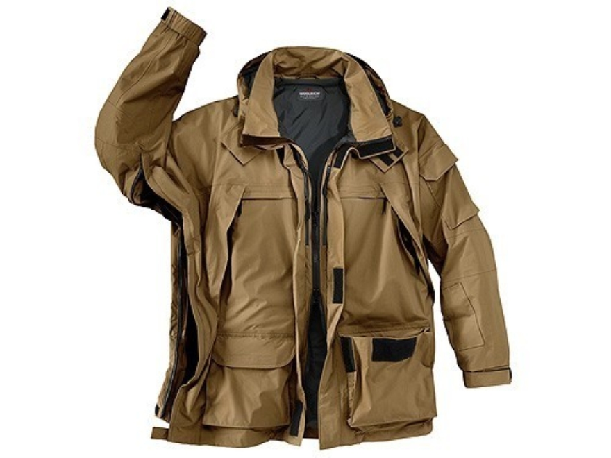 "Woolrich Elite Waterproof Breathable Parka Nylon Large (42"" to 44"") Coyote Brown"