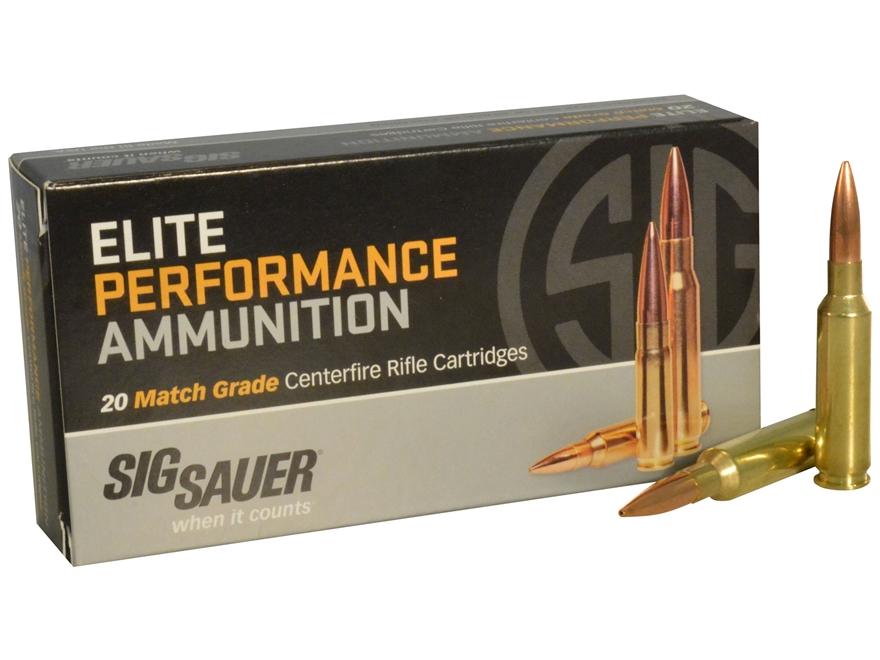 Sig Sauer Elite Performance Match Grade Ammunition 6.5 Creedmoor 140 Grain Open Tip Mat...