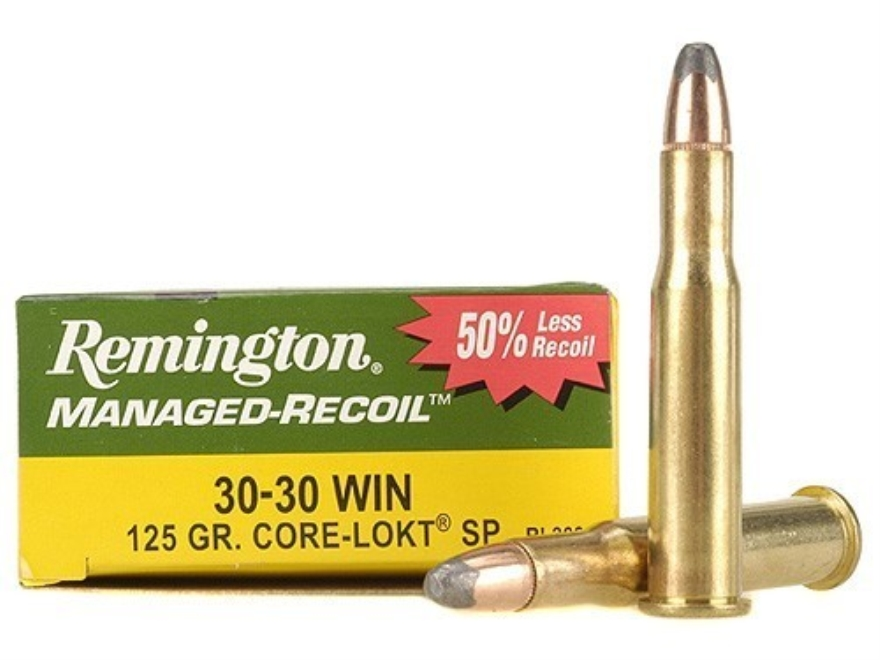 Remington Managed-Recoil Ammunition 30-30 Winchester 125 Grain Core-Lokt Soft Point Box...