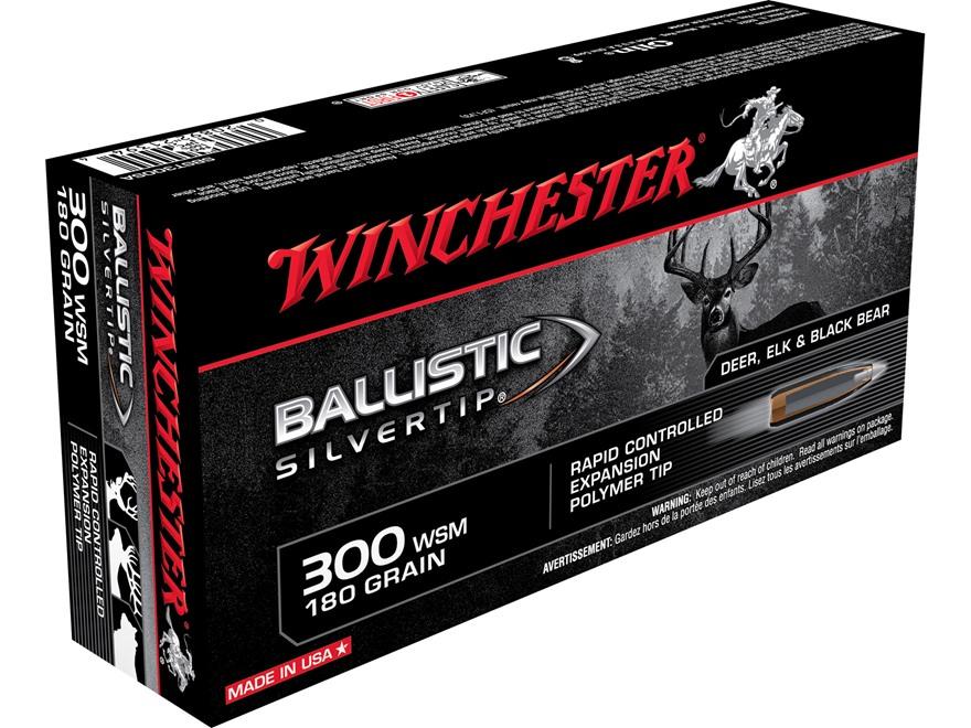 Winchester Ballistic Silvertip Ammunition 300 Winchester Short Magnum (WSM) 180 Grain R...