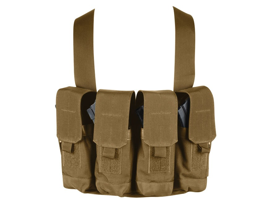 BLACKHAWK! Chest Rig Holds 8 AK-47 30 Round Magazine Nylon Coyote Tan