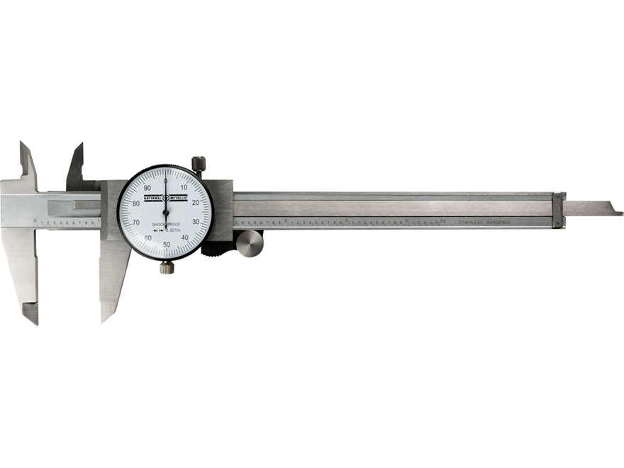 "National Metallic Dial Caliper 6"" Stainless Steel"