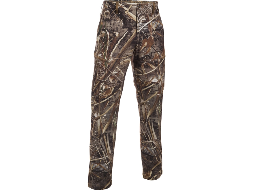 "Under Armour Men's UA Deadload Field Pants Polyester Realtree Max-5 Camo 34"" Waist 32"" ..."