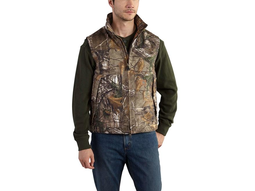 Carhartt Men's Quick Duck Insulated Vest Cotton Realtree Xtra Camo Medium