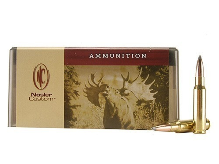 Nosler Custom Ammunition 308 Winchester 165 Grain Partition Spitzer Box of 20