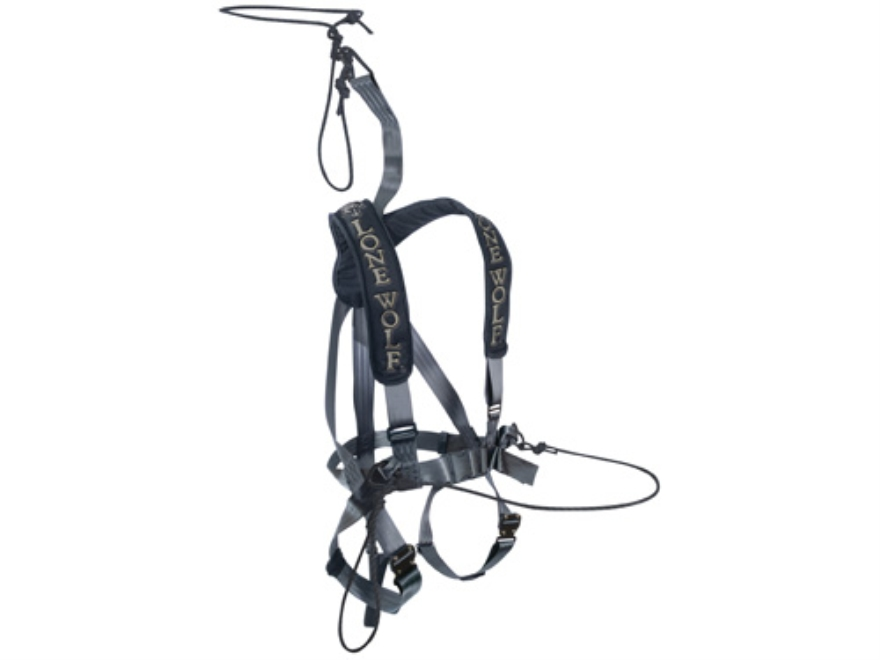 Lone Wolf Alpha Tech Treestand Safety Harness Nylon Black