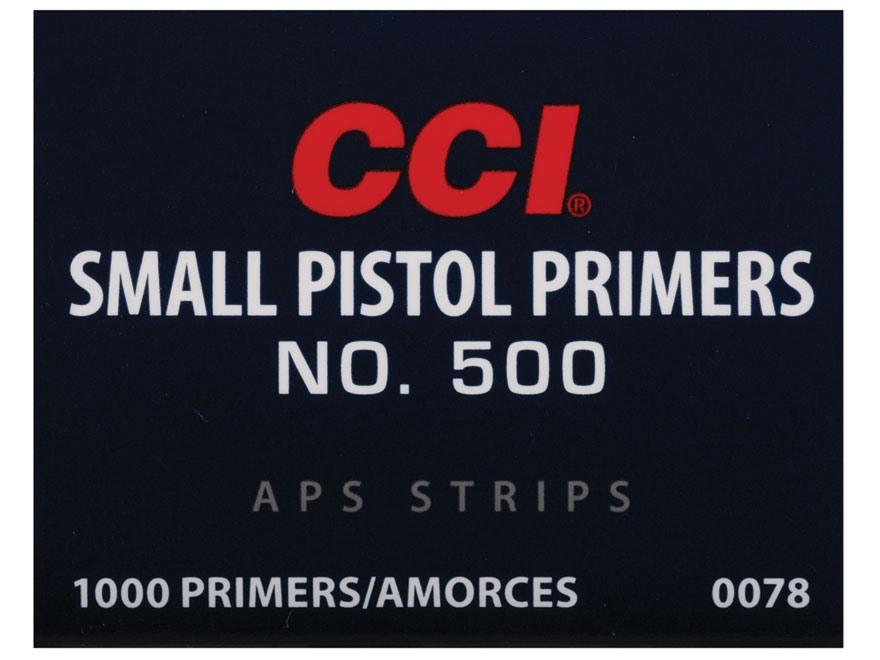 CCI Small Pistol APS Primers Strip #500