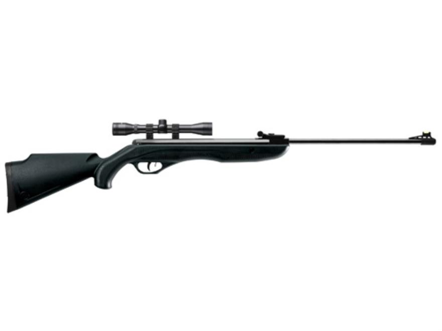 Crosman Phantom Air Rifle .177 Caliber Polymer Stock Black Blue Barrel with Scope 4x32mm