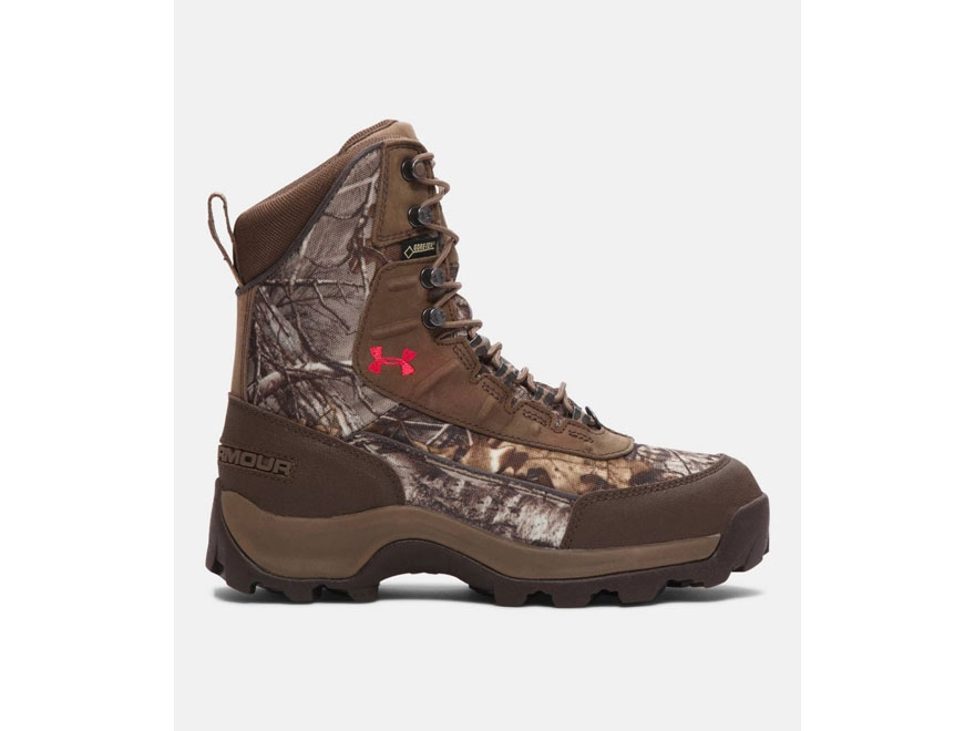 "Under Armour Brow Tine 7"" Waterproof 400 Gram Insulated Hunting Boots Leather Realtree ..."