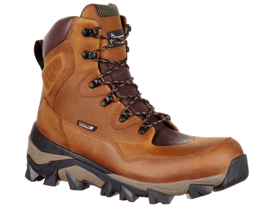 "Rocky Claw 8"" Waterproof 400 Gram Insulated Hunting Boots Leather Men's"