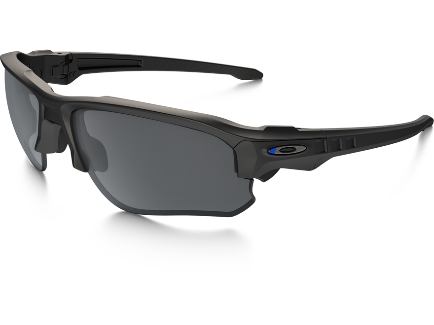 Oakley SI Speed Jacket Thin Blue Line Sunglasses Black Frame/Black Iridium Lens