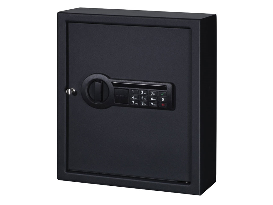 Stack-On Personal Drawer/Wall Safe with Electronic Lock and 1 Shelf Black