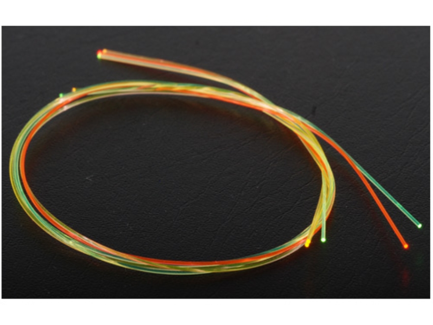 """TRUGLO Replacement Fiber Optic Rod 9"""" Long Green, Red, Yellow Package of 5"""