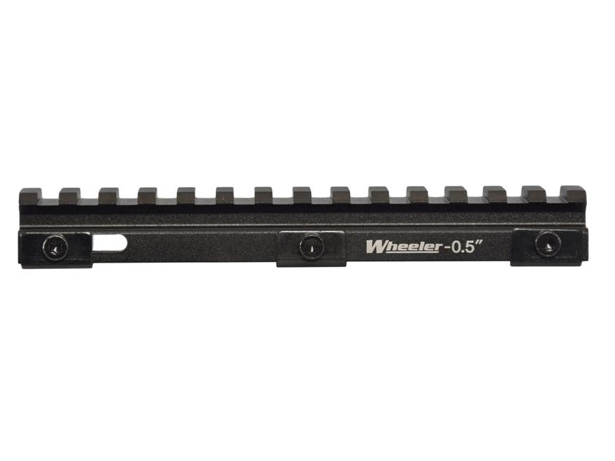 Wheeler Engineering Delta Series AR-15 Picatinny Rail Riser Aluminum Black