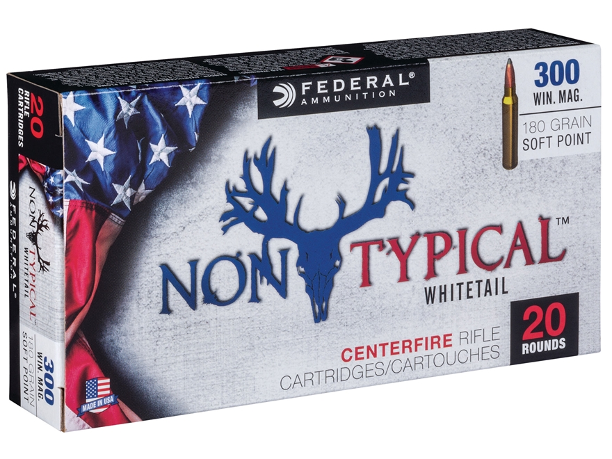 Federal Non-Typical Ammunition 300 Winchester Magnum 180 Grain Soft Point Box of 20