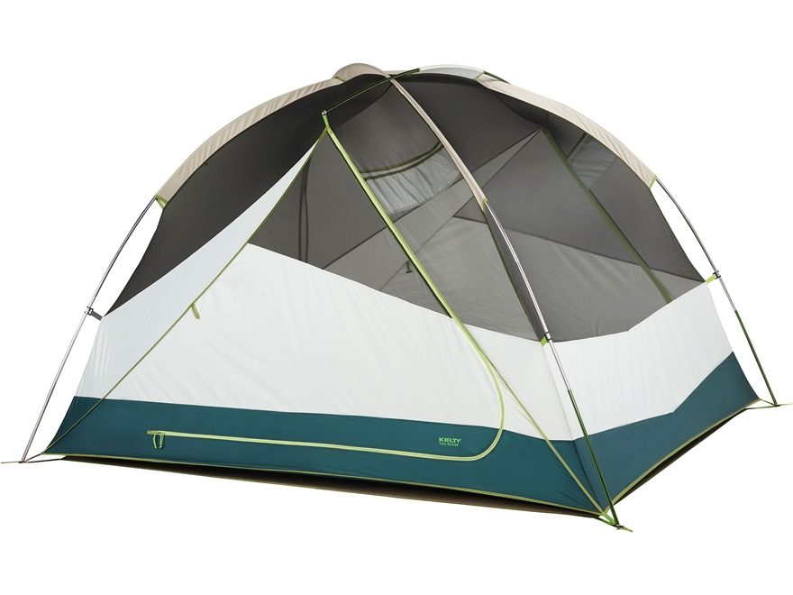 "Kelty Trail Ridge 4 Person Dome Tent with Footprint 98"" x 84"" x 59"" Polyester Grey"