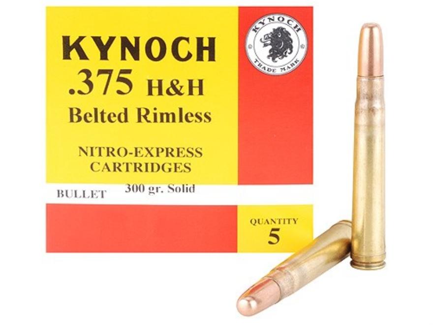 Kynoch Ammunition 375 H&H Magnum 300 Grain Woodleigh Weldcore Solid Box of 5