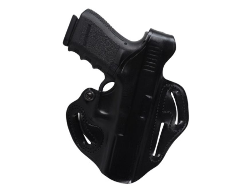 DeSantis Thumb Break Scabbard Belt Holster Right Hand Glock 17, 22, 31 Leather Black