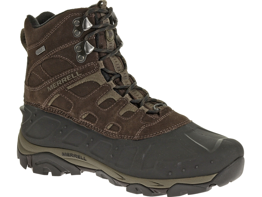 "Merrell Moab Polar 6"" Waterproof 400 Gram Insulated Hiking Boots Leather/Synthetic"