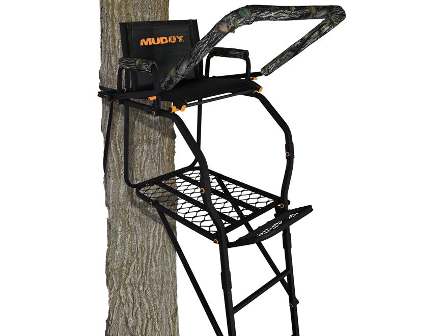 Muddy Outdoors The Huntsman 17' Single Ladder Treestand Steel Black