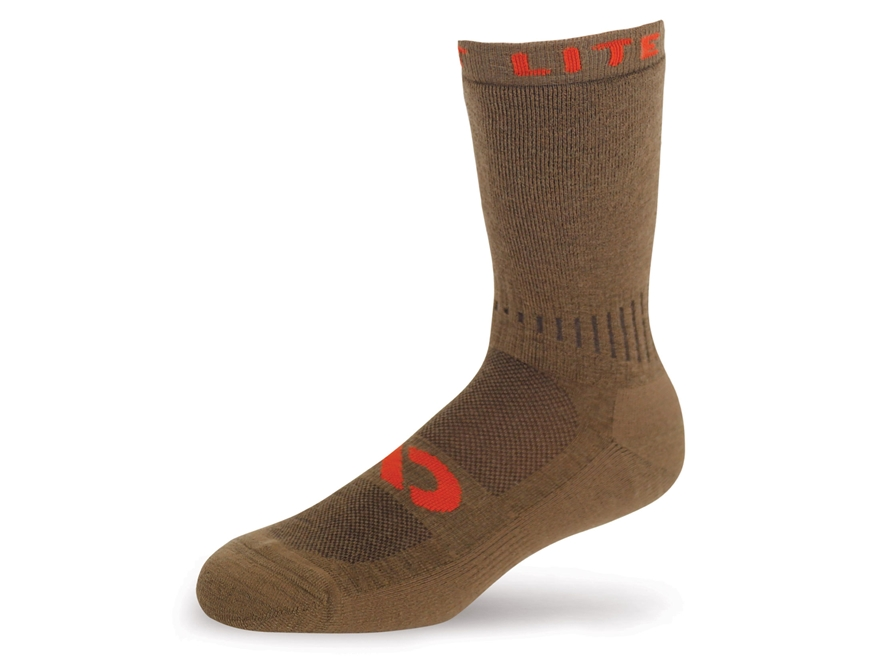 First Lite Mountain Athlete Crew Socks Merino Wool Blend