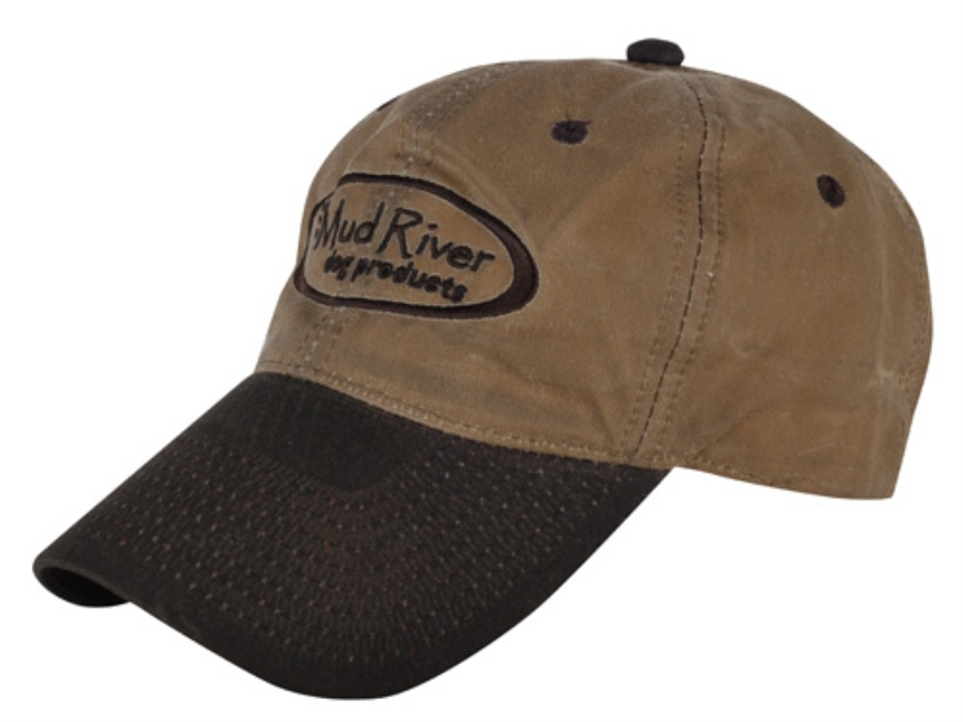 Mud River Logo Cap Waxed Canvas Tan and Brown