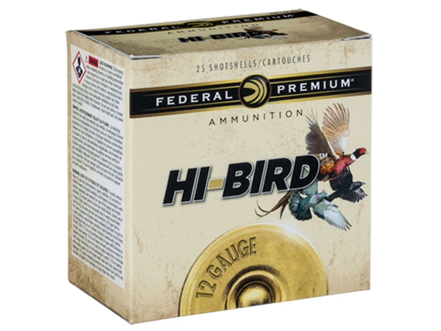 "Federal Premium Hi-Bird Dove, Pigeon, and Upland Ammunition 12 Gauge 2-3/4"" 1-1/4 oz #7..."