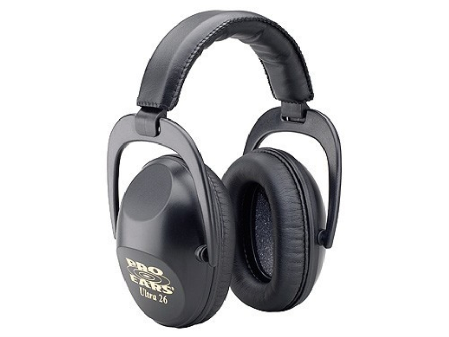 Pro Ears Ultra 26 Earmuffs (NRR 26 dB) Black