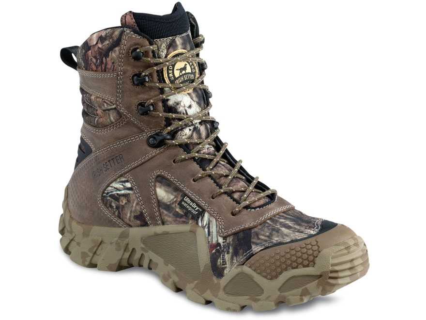 "Irish Setter Vaprtrek 8"" Waterproof Uninsulated Hunting Boots Nylon and Leather Mossy O..."