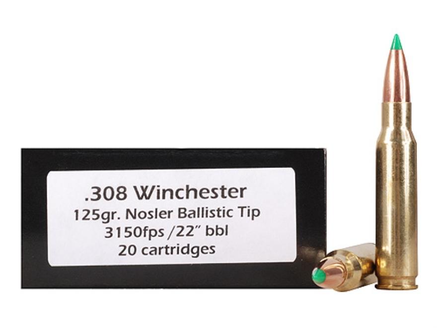 Doubletap Ammunition 308 Winchester 125 Grain Nosler Ballistic Tip Box of 20