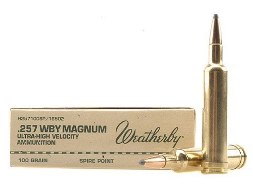 Weatherby Ammunition 257 Weatherby Magnum 100 Grain Hornady InterLock Spire Point Box o...