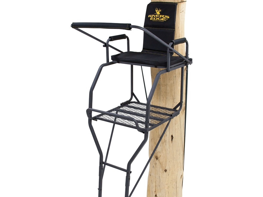 Rivers Edge XL Single Ladder Treestand Steel Black