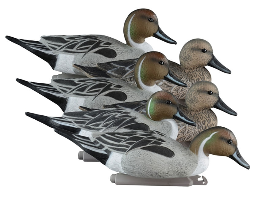 Higdon Standard Foam Filled Pintail Duck Decoy Polymer Pack of 6