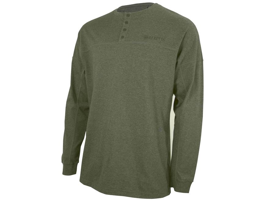 Beretta Men's Henley Shirt Long Sleeve Cotton