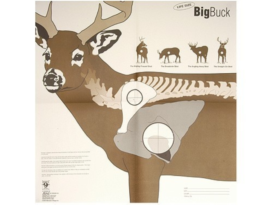 "Hoppe's Big Buck Target 28"" x 28"" Package of 5"
