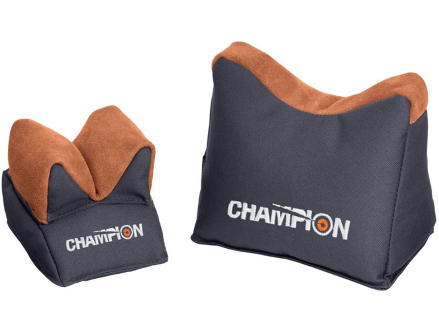 Champion Bench Rest Shooting Rest Bags Nylon and Leather Green