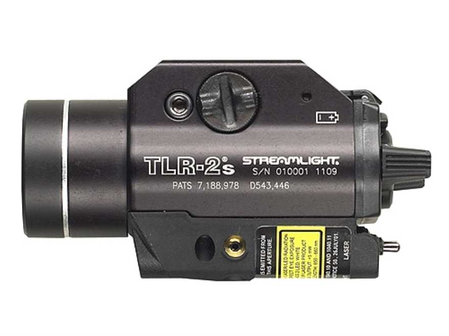 Streamlight TLR-2S Weaponlight LED with Laser and 2 CR123A Batteries fits Picatinny and...