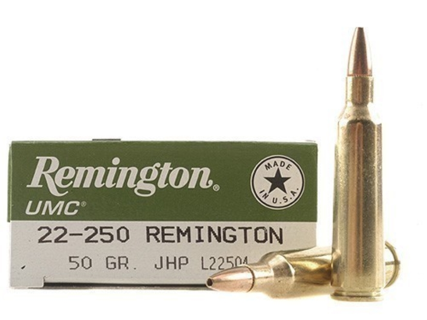 Remington UMC Ammunition 22-250 Remington 50 Grain Jacketed Hollow Point