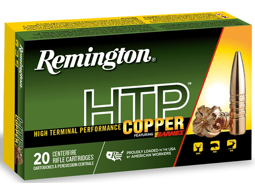 Remington HTP Copper Ammunition 300 AAC Blackout 130 Grain Barnes Triple-Shock X Hollow...