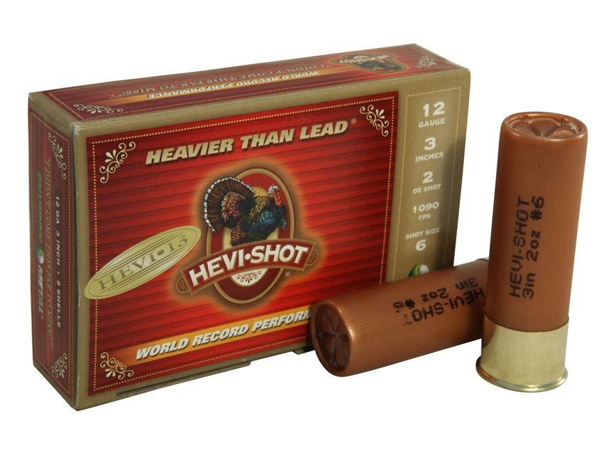 "Hevi-Shot Hevi-13 Turkey Ammunition 12 Gauge 3"" 2 oz #6 Hevi-Shot Non-Toxic Box of 5"
