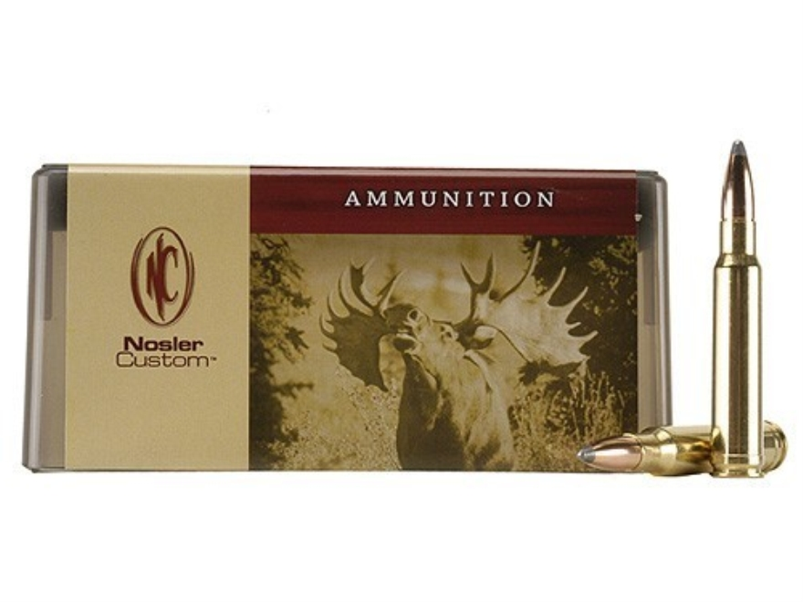Nosler Custom Ammunition 338 Winchester Magnum 210 Grain Partition Spitzer Box of 20