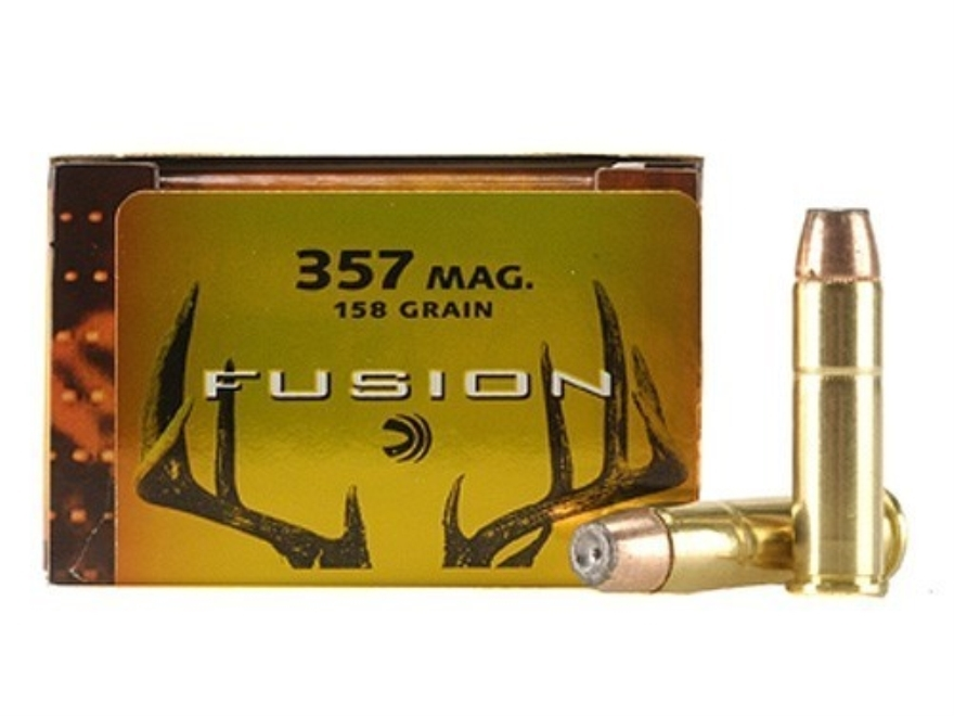 Federal Fusion Ammunition 357 Magnum 158 Grain Jacketed Hollow Point