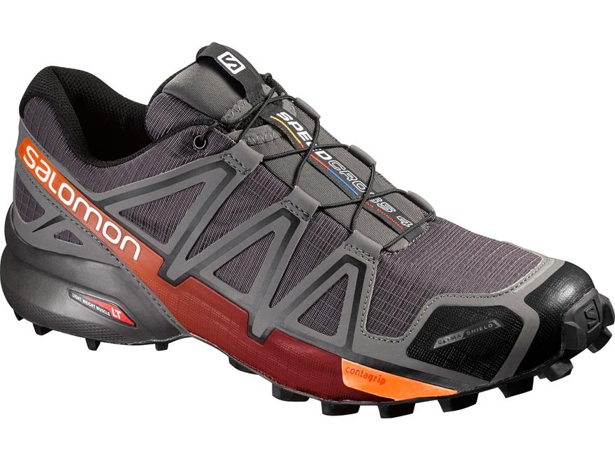 "Salomon Speedcross 4 CS 4"" Trail Running Shoes Synthetic Autobahn/Detroit/Orange Rust M..."