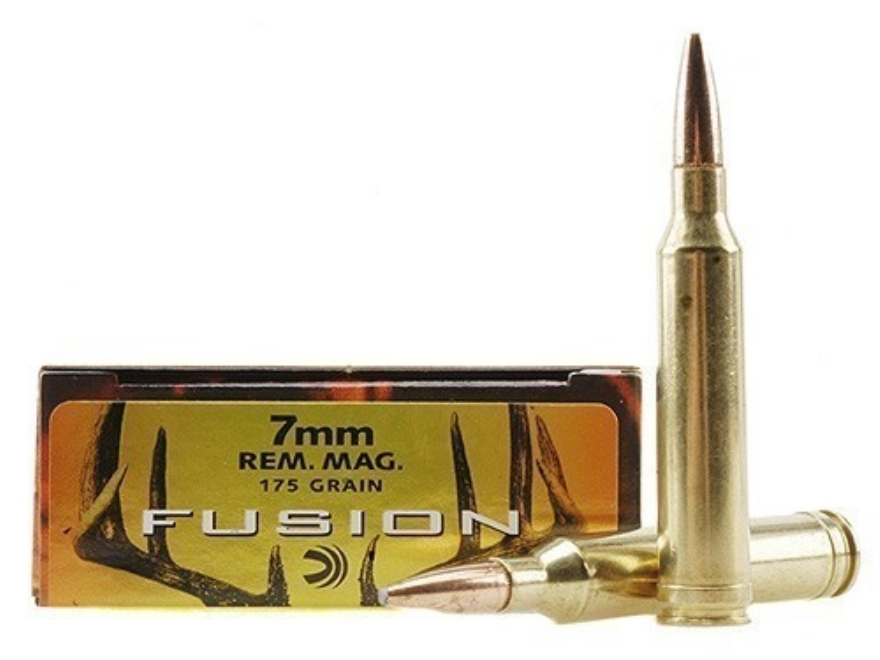 Federal Fusion Ammunition 7mm Remington Magnum 175 Grain Spitzer Boat Tail