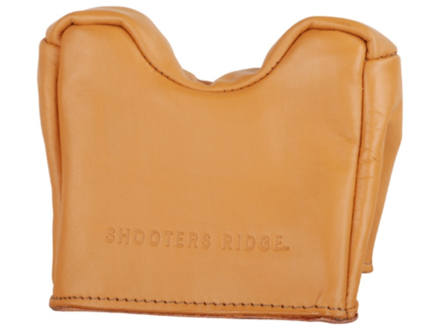 Champion Front Sand Bag Shooting Rest Bag Large Leather Tan Unfilled