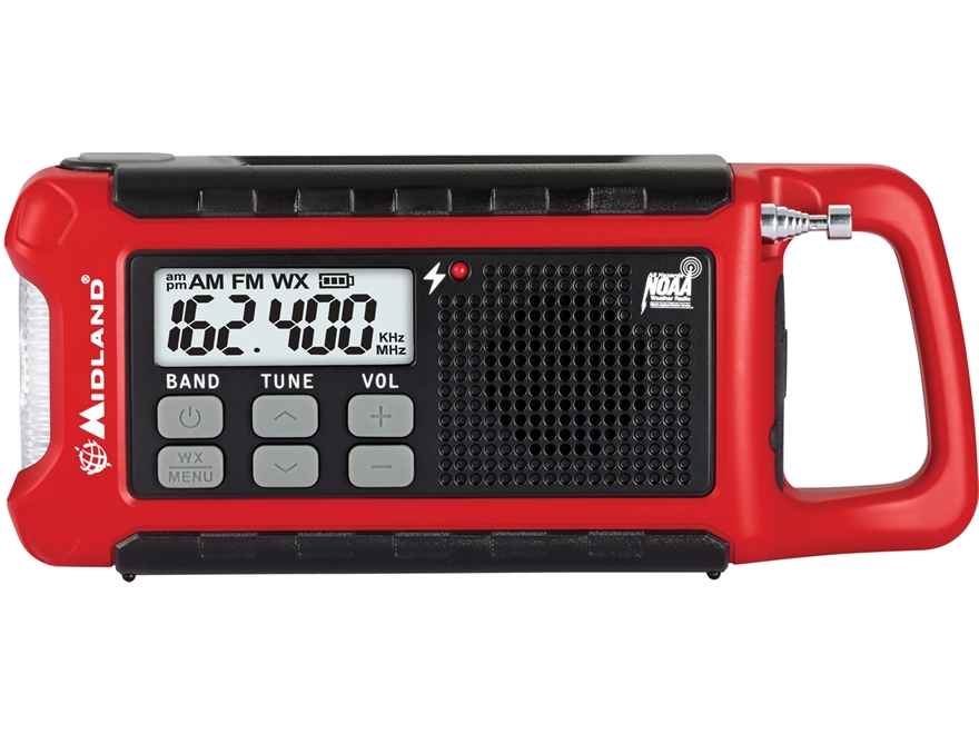 Midland ER210 E+Ready Emergency Crank Radio with NOAA Red
