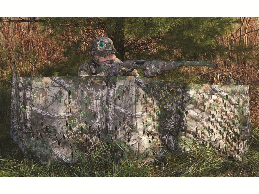 "Hunter's Specialties Portable Ground Blind 12' x 27"" Polyester Realtree Xtra Green Camo"