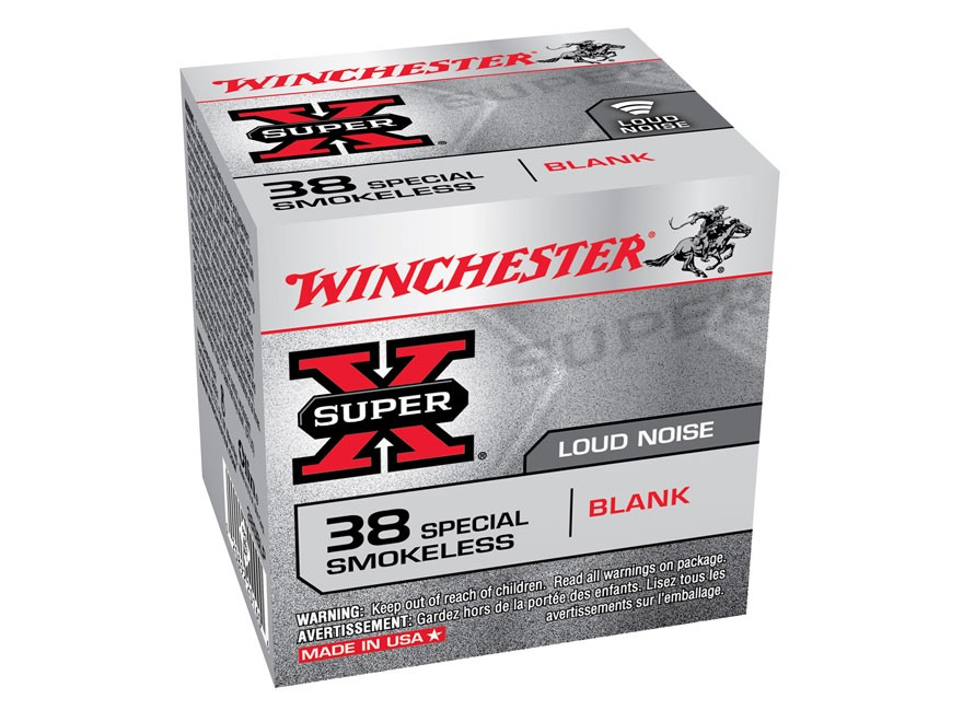 Winchester Super-X Ammunition 38 Special Smokeless Blank Box of 50