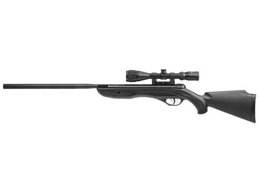 Benjamin Nitro Piston Air Rifle 22 Caliber Pellet Black Synthetic Stock Blued Barrel wi...