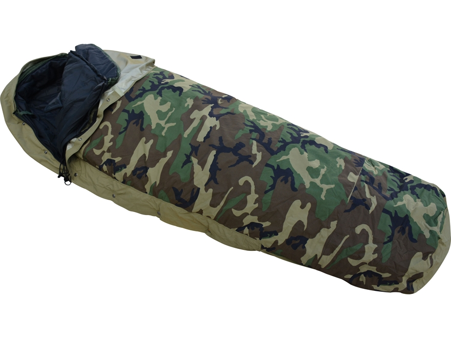 MidwayUSA Military Style 4-Piece ECWS Sleeping Bag System